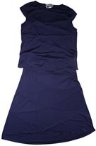 Saint Laurent Navy Viscose Dress