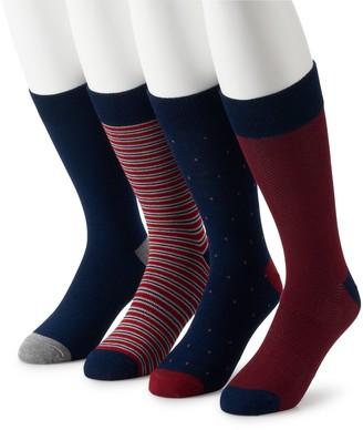 Croft & Barrow Men's 4-pack Opticool Dress Socks