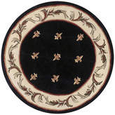 Kas Fleur de Lis Hand-Carved Wool Round Rug