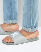 Dc Bolsa Sliders In Grey