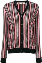 Marni long-sleeved striped cardigan - women - Nylon/Polyester/Acetate/Virgin Wool - 40
