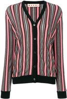 Marni long-sleeved striped cardigan - women - Nylon/Polyester/Acetate/Virgin Wool - 42