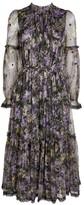 Needle & Thread Lilacs Garland Midi Dress