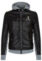 Philipp Plein Beaver Creek Leather Sweat Jacket