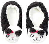 Capelli of New York Panda Pal Faux Fur Slipper Socks