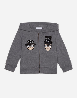 Dolce & Gabbana Jersey Hoodie With Family Hat