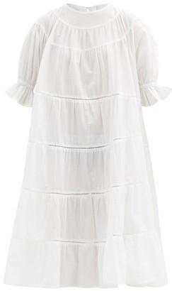 Merlette New York Paradis Tiered Cotton Sun Dress - White
