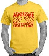 StarliteFunnyTShirts Starlite~Mens Funny tshirts-Awesome Boyfriend Looks Like tshirt-S