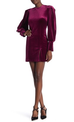 Rebecca Minkoff Gwen Puff Sleeve Velvet Mini Dress