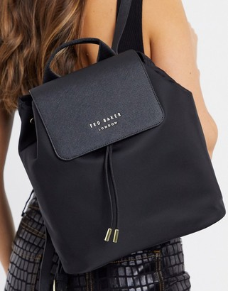 Ted Baker naome nylon drawstring backpack