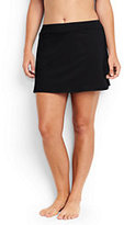 Lands' End Women's Plus Size SwimMini Skirt Control-Light Fuchsia