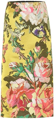 Dries Van Noten Floral jacquard midi skirt