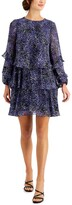 Thumbnail for your product : Taylor Petite Tiered A-Line Dress