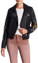 William Rast Ace-High Alexa Novelty Faux Leather Moto Jacket