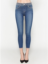L'Agence Margot Studded Jeans In Dark Vintage
