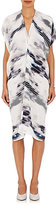 Zero Maria Cornejo Women's Issa Variegated-Stripe Dress-WHITE