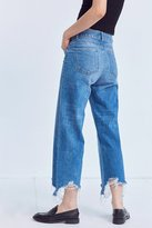 DL1961 Hepburn High-Rise Distressed Wide-Leg Jean