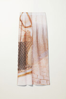Thumbnail for your product : Weekday Pollux Print Skirt - White