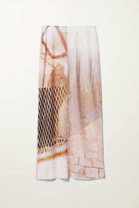 Weekday Pollux Print Skirt - White