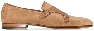 Santoni Suede Monk Shoes