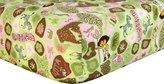 Trend Lab Nickelodeon Crib Sheet, Pink, Dora the Explorer Exploring the Wild