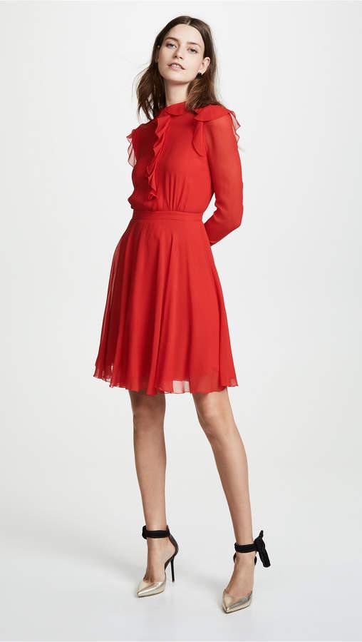 Giambattista Valli Ruffle Neck Dress