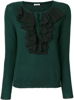 P.A.R.O.S.H. ruffle detail knitted top - women - Polyester/Wool - M