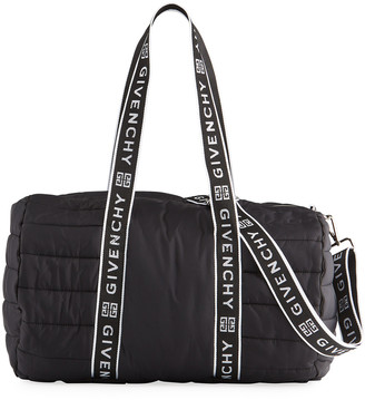 Givenchy Kid's Quilted Logo Nylon Duffle Bag
