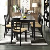 HomeSullivan Black Dining Set with Window Back Side Chairs (7-Piece)