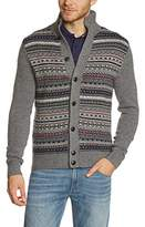 Tommy Hilfiger Men's FOTO BTN-THRU CF Button Front Long Sleeve Cardigan
