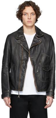 Schott Black Hand Vintaged D-Pocket Jacket