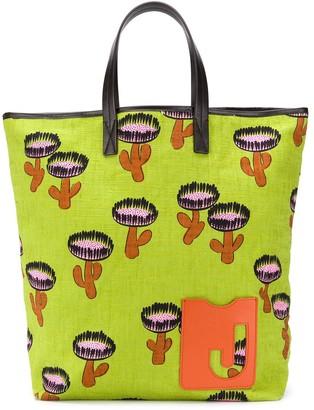 La DoubleJ Chirpy Cactus print shopper tote bag