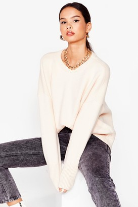 Nasty Gal Womens Oh Knit's On Chunky Sweater - Cream