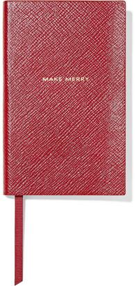 Smythson Make Merry Panama Textured-leather Notebook