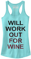 Chin Up Apparel Women's Tank Tops CANCUN - Cancun 'Will Work Out For Wine' Slim-Fit Racerback Tank - Women