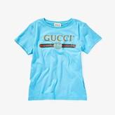 Gucci Kids Web Print T-Shirt (Little Kids/Big Kids) (Turquoise/Multi) Kid's T Shirt