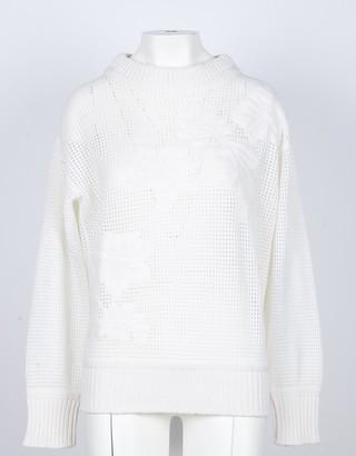 Lamberto Losani Cream 100% Cashmere Women's Sweater