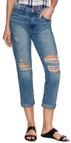 Current/Elliott The High-Waisted Straight Distressed Jean