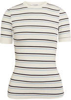 Frame Striped Ribbed Stretch-jersey T-shirt - White