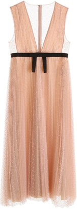 RED Valentino Pleated Point D'Esprit Tulle Dress