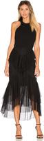 Rebecca Vallance Orlando Bow Back Ruffle Dress