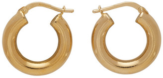Bottega Veneta Gold Hoop Earrings