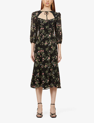 Reformation Poulter floral-print woven midi dress