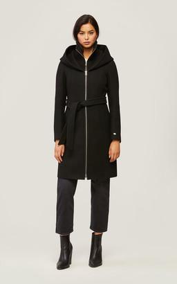 Soia & Kyo ADISON slim-fit wool coat with detachable bib
