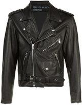 Enfants Riches Deprimes chest back print jacket - unisex - Silk/Calf Leather - S