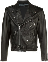 Enfants Riches Deprimes chest back print jacket - unisex - Silk/Calf Leather - XL