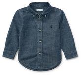 Ralph Lauren Boy Indigo Cotton Chambray Shirt