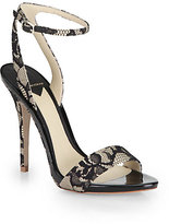 Brian Atwood Catania Lace Ankle Strap Sandals