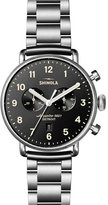 Shinola 43mm Canfield Chronograph Stainless Steel Watch