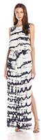 Young Fabulous & Broke Women's Leah Crocodile Open Back Sleeveless Maxi Dress